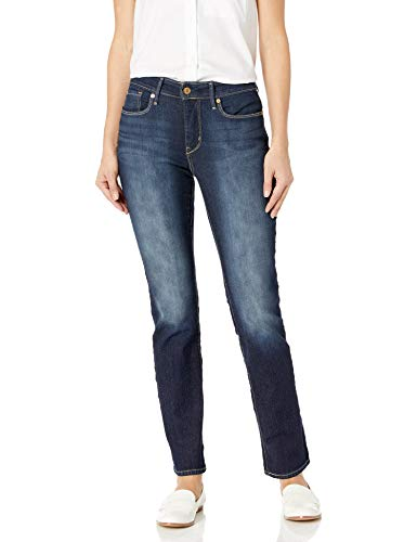 Signature by Levi Strauss & Co Women's Totally Shaping Slim Straight Jeans, Perfection, 16 Short