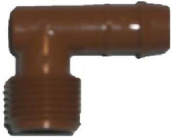Pack 8 uds codo macho goteo 16mmX1/2