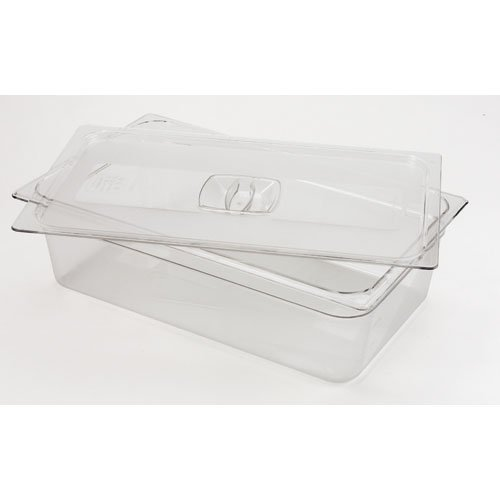 Rubbermaid Commercial Products FG134P00CLR Cold Food Pan Cover Full Size (Pack of 6) -