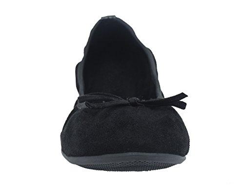 Chaussures De Ballerines Noir Ballet Pliable Greatonu Femme Fermé xqCRRI