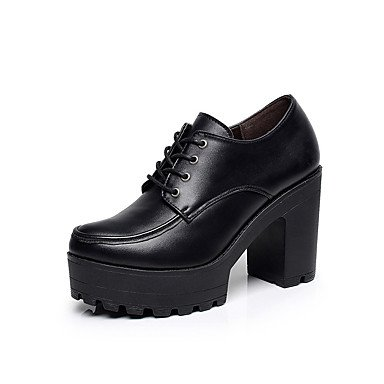 Cn34 4En CN34 2A 3 EU35 UK3 De Chunky Otoño amp;Amp; Zapatos Mujer Cuero Negro 2 Formales Ue35 Office Auténtico Carrera Primavera Tacones Negro Casual Uk3 Formales Us5 US5 Talón La Zapatos Ff1qfA