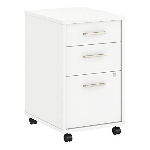 - Office by kathy ireland Method 3 Drawer Mobile File Cabinet in White
