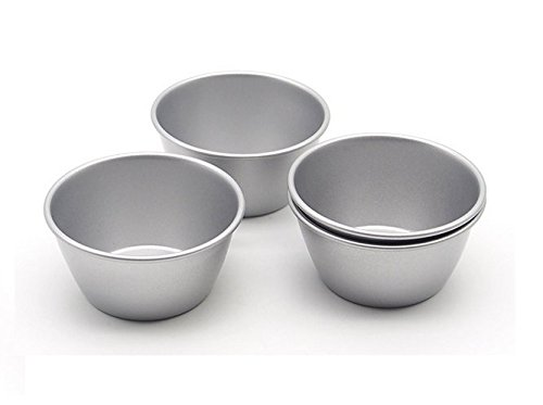 Astra shop Pack of 8 Individual Molds/ Chocolate Molten Pans/ Pudding Cups/ Raspberry Souffle Pot Pie Darioles Ramekins/ Brownies Tumblers Popovers/3-Inch Nonstick Egg Tart Bakeware