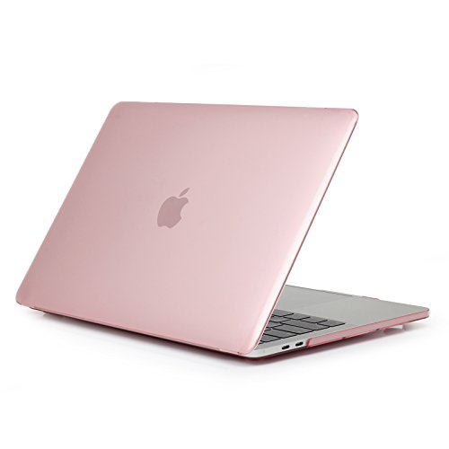 Price comparison product image Jennyfly 15.4 inch MacBook Pro Case,  Anti-Scratch MacBook Protective Case Smooth Plastic Hard Case Ultra-Slim Protective Cover Compatible with MacBook Pro 15.4 inch Model A1286 - Pink
