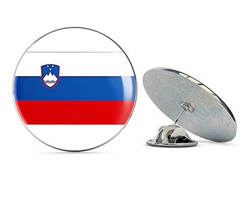 - NYC Jewelers Slovenia Flag (Slovenian Tricolour White Blue red Coat of arms) Metal 0.75