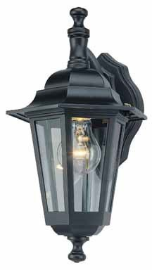 Wall Iron Exterior (Westinghouse Lighting 6784600 One-Light Exterior Wall Lantern, Textured Black Finish on Cast Aluminum with Clear Glass Panels)
