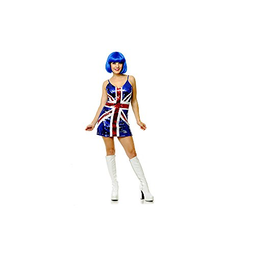 British Sequin Dress Adult Costume - Small
