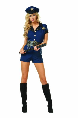 [RG Costumes Women's Naughty Sheriff, Navy Blue, 8-10/Large] (Sheriff Costume Women)