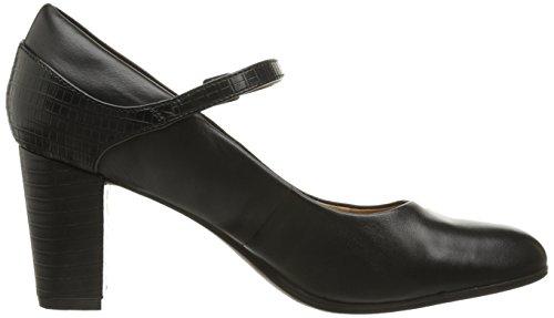 Bomba Clarks Bavette vestido de Cathy Black Leather/Crocodile