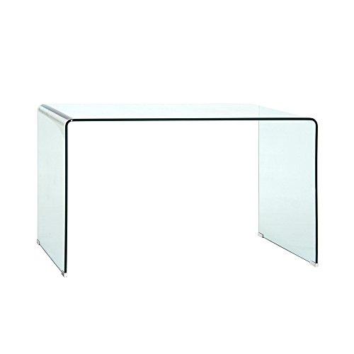 Schreibtisch aus 12mm Klarglas 125x74x70cm - Modell Xenia
