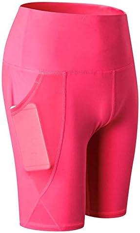 レディースジャージ上下セット 女性ハイウエストトレーニング弾性水着湿気ビキニボトムショーツ (色 : ピンク, サイズ : XL)