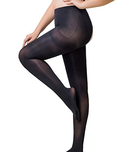 744d9dd493c Crotchless Pantyhose WisLotife Plus Size opaque Tights Open Crotch Stocking