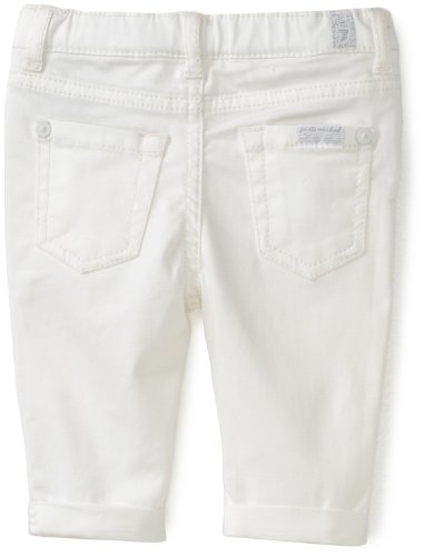 7 For All Mankind Baby Girls' Front Closure Denim Crop and Roll Pant