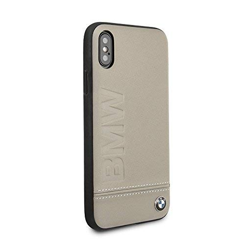 new arrival 6e8e9 1e503 BMW iPhone X & iPhone Xs Case - by CG Mobile - Taupe Hard Cell Phone Case  Genuine Leather | Easily Accessible Ports | Officially Licensed.