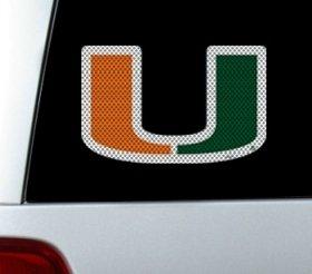Stadium Perforated Series - Miami Hurricanes Die-Cut Window Film - Large