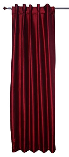 Wine Red Faux Silk Satin Dupioni Curtains, Each 51
