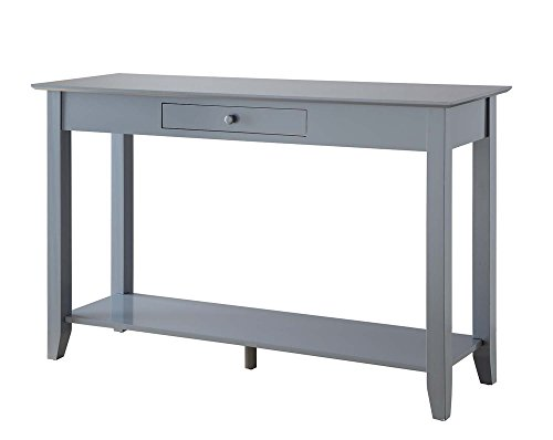 - Convenience Concepts American Heritage Console Table with Drawer, Gray