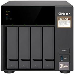 QNAP TS-473 Ethernet Torre Negro NAS - Unidad Raid (Unidad de Disco Duro, SSD, Serial ATA III, 2.5/3.5