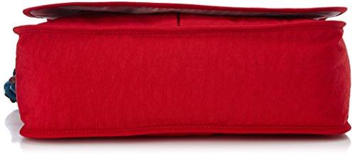 Kipling K1537999B Borsa Messenger, 41 cm, Nylon, Rosso