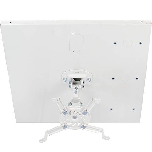 VIVO Universal White Adjustable 2 x 2 feet Drop Ceiling Projector Mount | Suspended Drop-in Ceiling Projection Mounting Kit (MOUNT-VP07DP) Drop Ceiling Mounting Plate