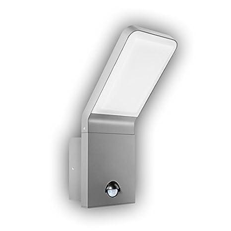 GEV LED Lámpara de pared Nina con detector de movimiento, ángulo de detección de 90 grados, interruptor crepuscular ...