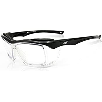 b511dcdd5d3 Safety Glasses Clear with Integrated Side Shields z87 2+ ANSI with Foam  Brow Gloss Black Frame - Optical Quality Eyewear Protection by Rio Ray  Optics