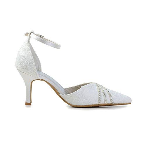 Minitoo , Damen Pumps White-8cm Heel
