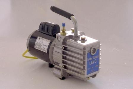 The Fischer Laboratory vacuum pump operates quietly and efficiently. Furthermore, the pumps are available in 220 voltage.