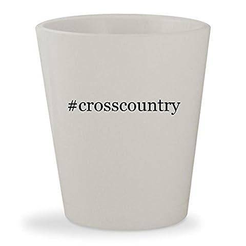 #crosscountry - White Hashtag Ceramic 1.5oz Shot Glass - Karhu Backcountry Ski
