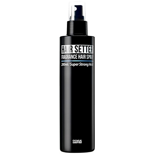SSANAI Hair Setter - Men's Non-Aerosol Hard Hair Spray 6.76 Oz, Extra Hold Masculine Scent Stylist Recommended, Texturizing Volumizing Root Boosting Lift, Styling Finishing Grooming Fluid Pump