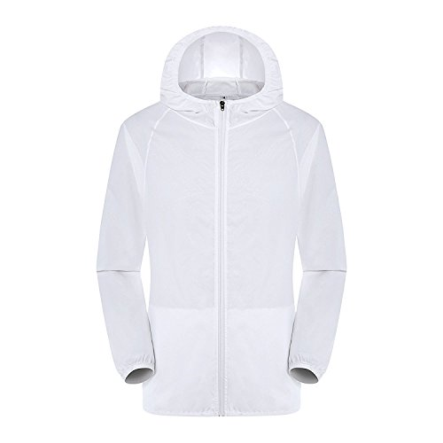 Lanbaosi Women's Lightweight Windbreaker Skin Jacket Rain Coat Travel Hoodie (Ladies Nylon Jacket)