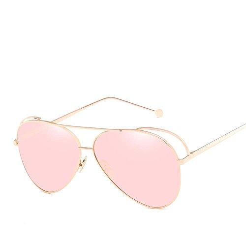 Aoligei Mâles et femelles shing Chao homme personnalité métal couleur pilote film lunettes de soleil uClKl9F6Y
