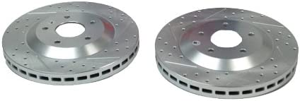 Pair BAER 55043-020 Sport Rotors Slotted Drilled Zinc Plated Front Brake Rotor Set