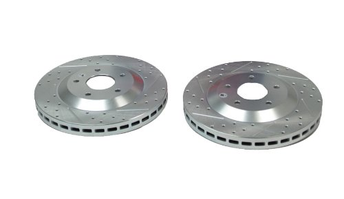 BAER 55043-020 Sport Rotors Slotted Drilled Zinc Plated Front Brake Rotor Set - Pair