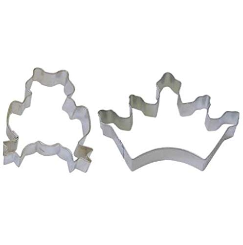 Cookie Cutter 2 Piece Frog Crown Tiara Prince Princess Cookie Cutters