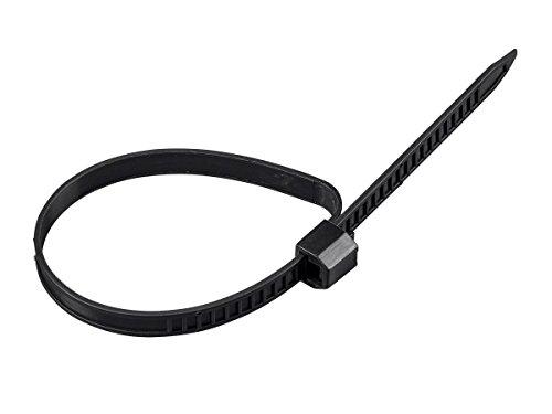 Monoprice Releasable Cable Ties 7.0 x 245mm 120pcs, Black