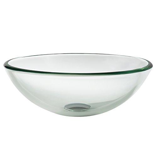 Kraus GV-101-14 Clear 14 inch Glass Vessel Bathroom Sink by Kraus