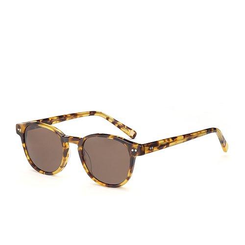 polarizadas Unisex Brown Sunglasses C02 Acetato de para Brown en C02 Hombres Demi de Gafas Sol Gafas TL Guía Demi recorriendo Sol Gafas wIxqUUd