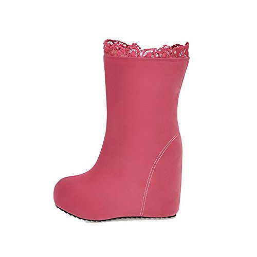 top Solid Low Women's Agoolar Stivali Rosa In High Imitato Pelle Zipper Scamosciata heels 4xqva