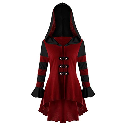 Mikey Store Fashion Women Hooded Long Sleeve Corset Double Breasted Coat