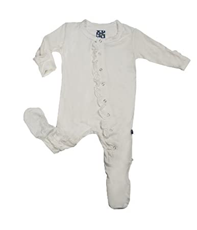 419e7d8b96 Amazon.com  KicKee Pants Baby-Girls Infant Ruffle Footie Pajama ...