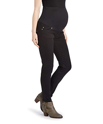 Rumor Has It Maternity Over The Belly Skinny Jeans Pants (X-Large, Black)