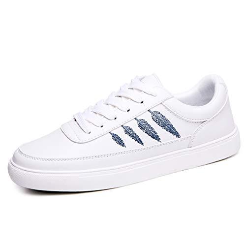 otoño Flat de de Encaje Oxford Azul Mujeres de Goma de Cuero Mujer Zapatillas 9862 Zapatos Zapatillas Casual Zapatos de xY5vnBwCqt