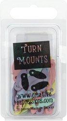 Painted Metal Turn Mounts - 50PK/Pastel (Metal Painted Mounts Turn)
