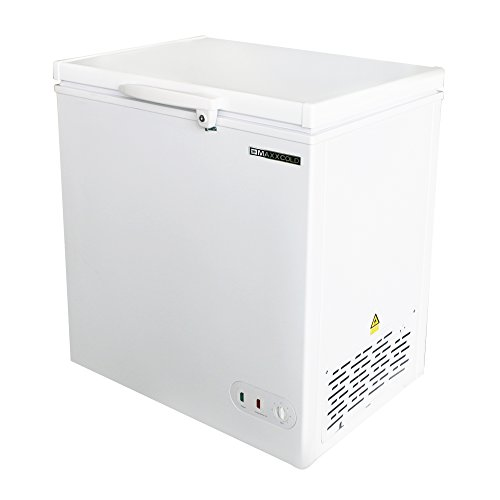 - Maxx Cold 5.2 Cubic Feet 147 Liter Solid Hinged Top Sub Zero Commercial Chest Freezer with Locking Lid NSF Garage Ready Manual Defrost Keeps Frozen for 2 Days In Case of Power Outage, 30.4 In W, White