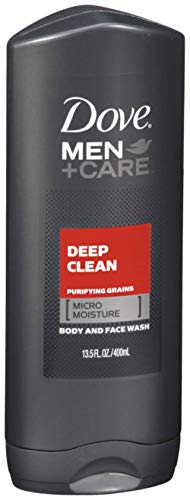 Dove Men+Care Body & Face Wash, Deep Clean 13.50 oz (Packs of 6)