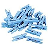 Fun Express Mini Clothespin Party Favors Pastel Blue - 48 Pieces