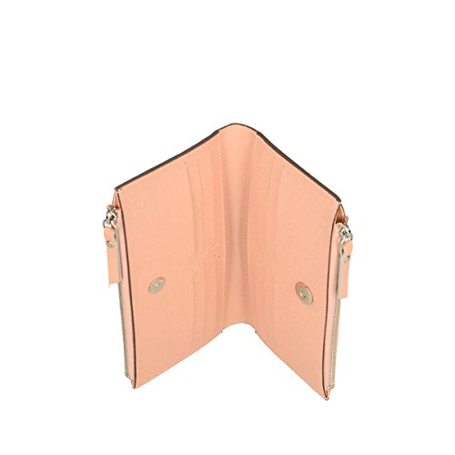 Chicca Borse Brieftaschen aus echtem italienischem Leder 20x12x3 Cm Rosa GWGH8
