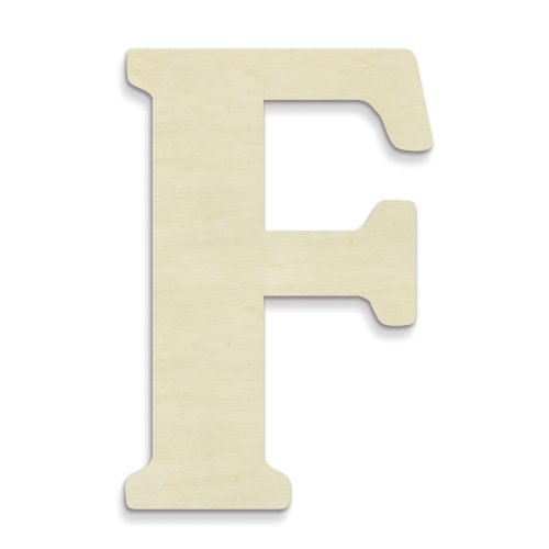 UNFINISHEDWOODCO 23-Inch Unfinished Wood Letter, Large, Letter F