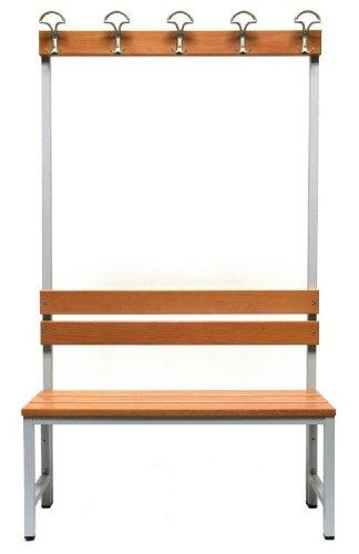 Sitzbank Herkules 100, mit Garderobenrückwand